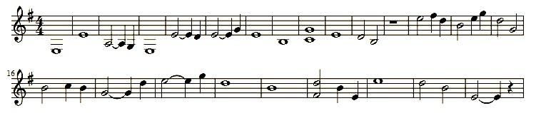 Begleitmelodie: Streicher