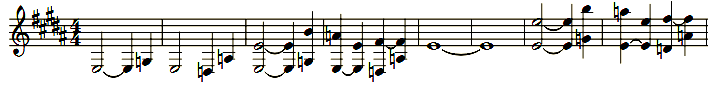 Eingangsmelodie: Grundtöne