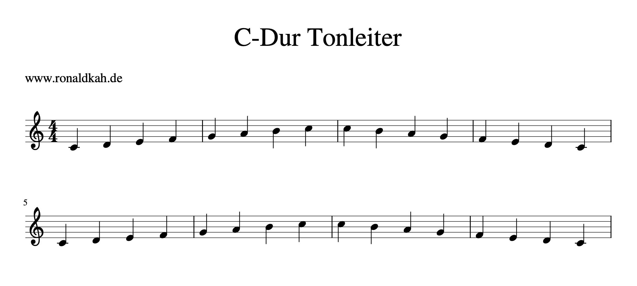 Tonleiter - C Dur