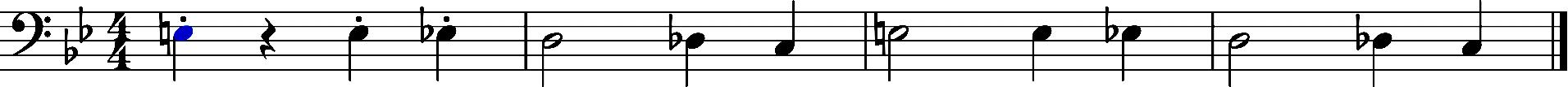 Melodie dramatisch Noten Beispiel