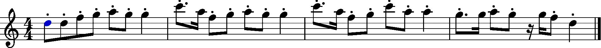 Melodie fröhlich Noten Beispiel