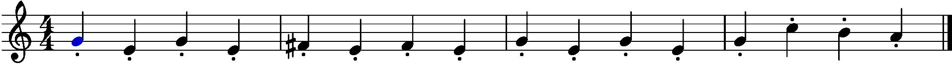 Melodie traurig Noten Beispiel