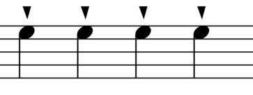 Staccatissimo Symbol