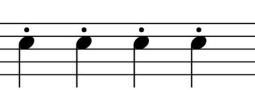 Staccato Symbol