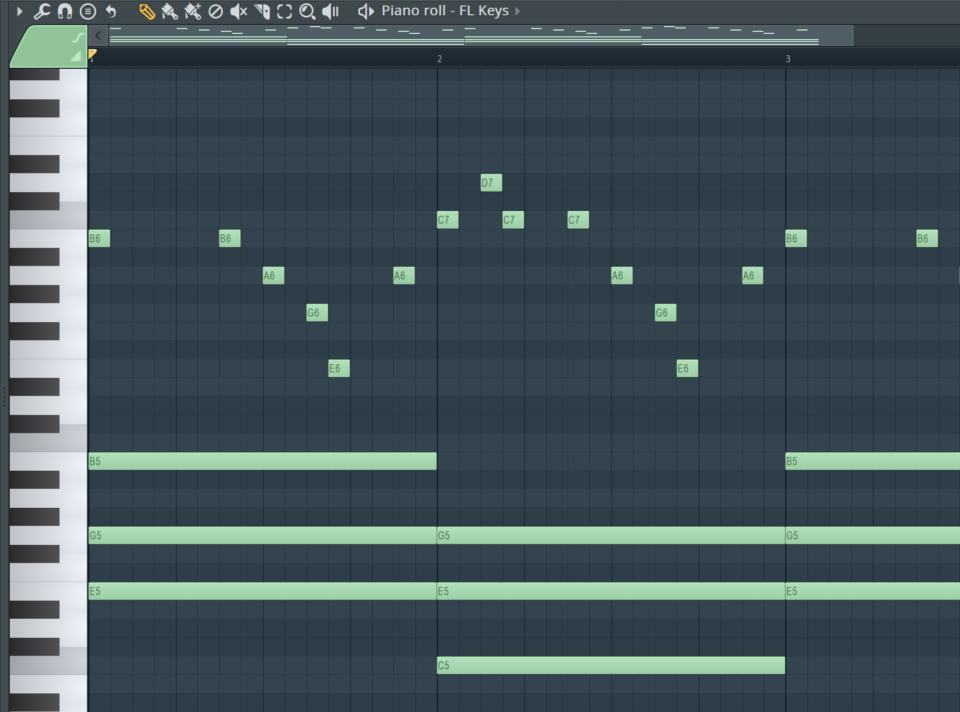 Homophonie Melodiesatz Beispiel