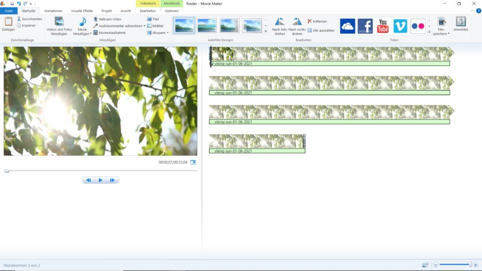 Windows Movie Maker - Screenshot